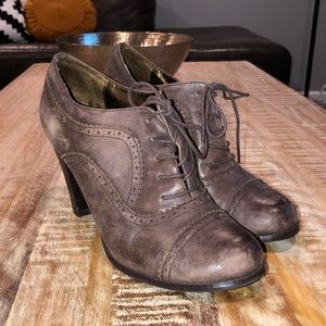Report Distressed Leather Booties 11